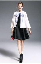Women cashmere coat vintage flower embroidery tassel batwing sleeve wool coats short winter elegant cloak cape poncho winter(China)
