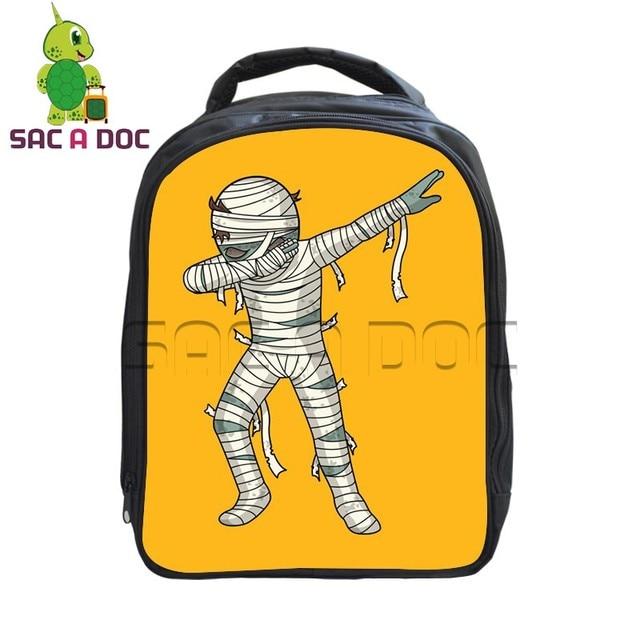 Funny Dab Cartoon Walking Dead Kindergarten Backpack Children School Bags  Boys Girls Hiphop Style Bookbag Student Backpack 98b7e97e736a3