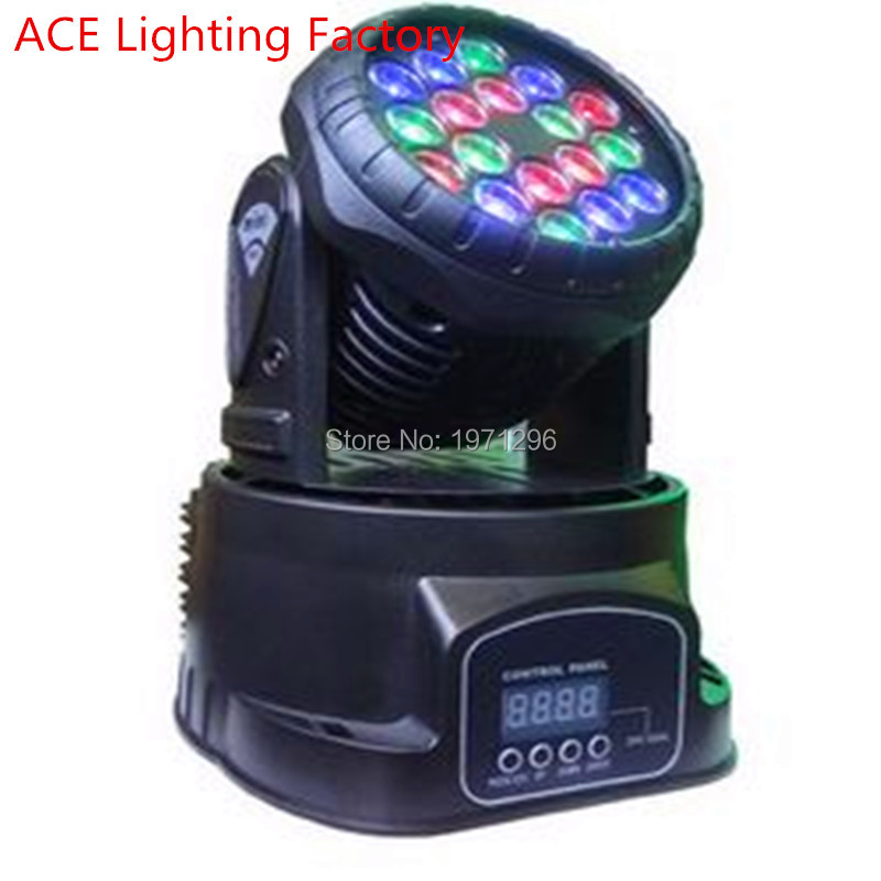 HOT Fast Shipping LED Wash Moving Head Light RGBW 18x3W Perfect for Mobile DJ, Party, nightclub high quality free shipping hot sale mini led moving head wash light rgbw quad dj lighting