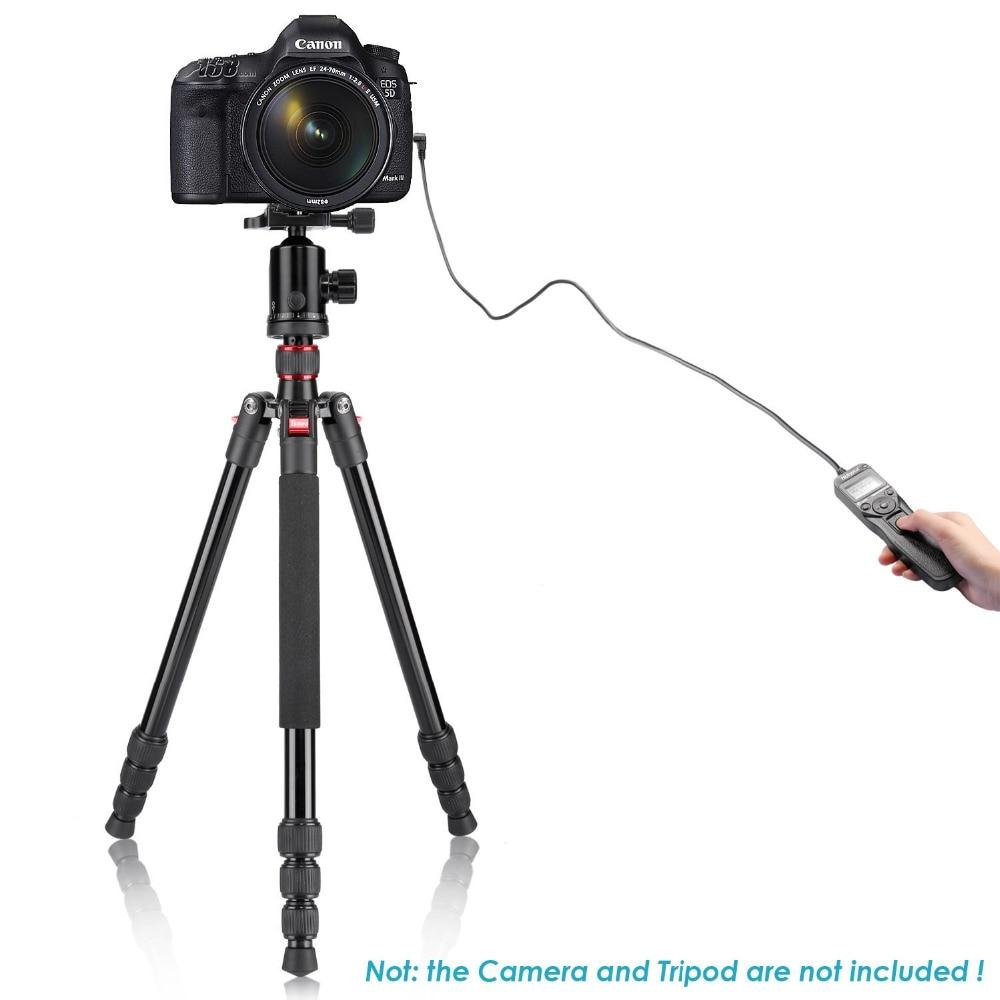 Neewer minuterie déclencheur télécommande pour Canon 700D/650D/550D/500D/350D/400D/1000D/450D/60D/100D/pour Pentax