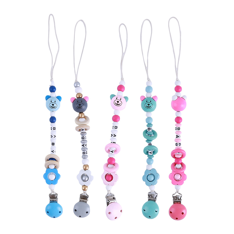 Newborn Baby Dummy Nipple Holder Baby Hanging Strap Infant Baby Pacifier Clips Soother Holder Anti Folder Pacifier Clip Chain