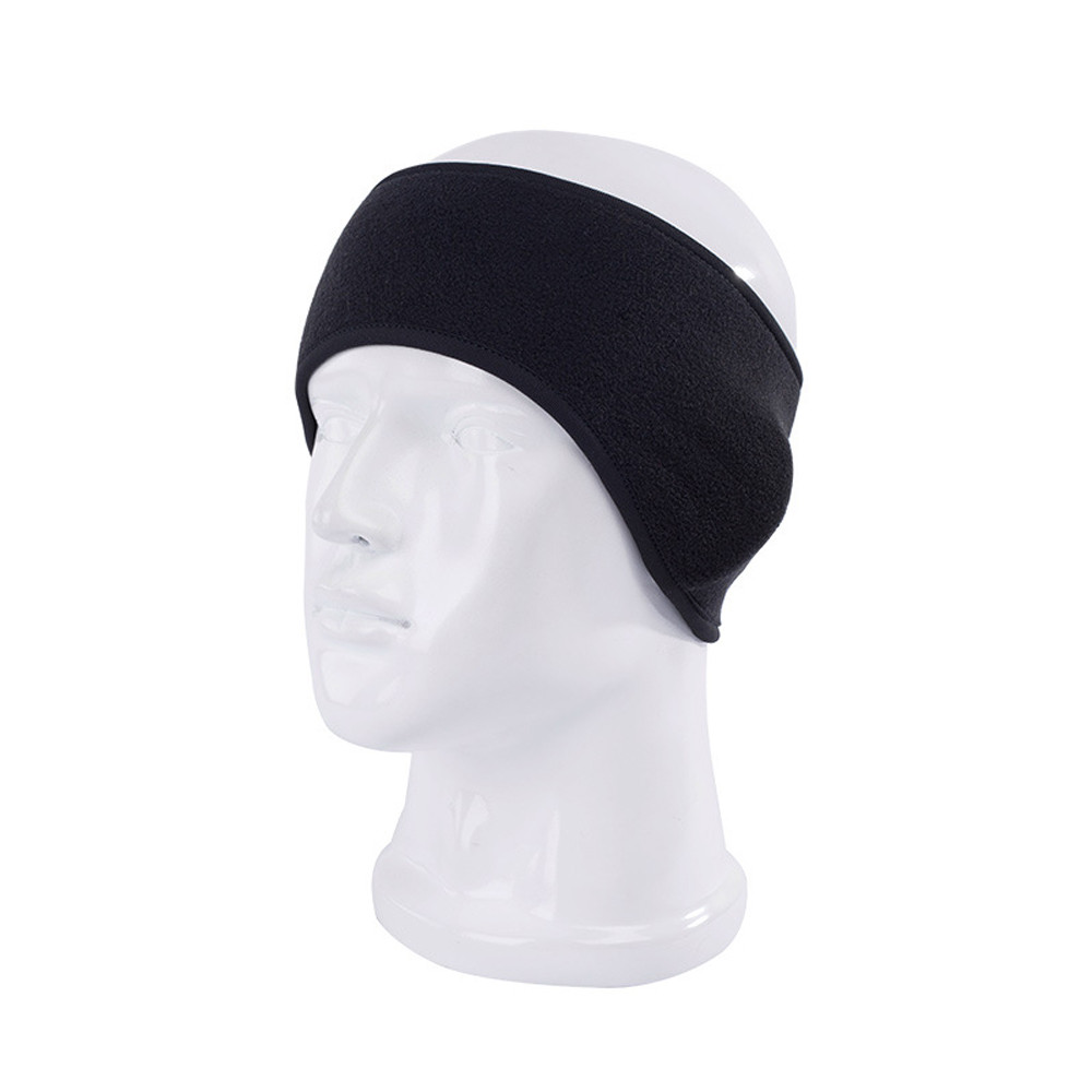 Mnycxen Winter Buffs Warm Cycling Headband Sport Running Gym Polyester Bicycle Ski Sweatband Unisex Solid   Headwear   TN
