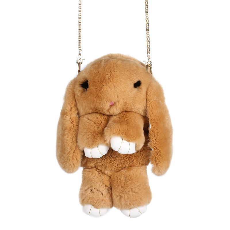 Dead Rabbit Bags for Women Rex Rabbit Fur Chain Shoulder Bag Multifunctional Bag