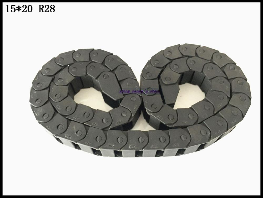 1pcs 15x20mm 15*20 mm R28 Cable Drag Chain Wire Carrier with End Connector 15mm x 20mm L1000mm 40 for 3D CNC Router Machine 1pcs 15x30mm r28 cable drag chain wire carrier with end connector 15mm x 30mm l1000mm 40 for 3d cnc router machine brand new