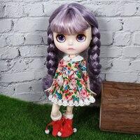 Бесплатная доставка 30 см 12 дюйм(ов) фабрика Блит кукла с юбка цветком белая кожа 1/6 кукла с гибкими суставами в красная обувь подарок BJD куклы