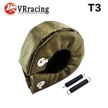 VR RACING-100% de TITANIO Completo manta turbo T3 turbo heat shield fit: t2 t25 t28 gt28 gt30 gt35 y más t3 turbo VR1303-2T