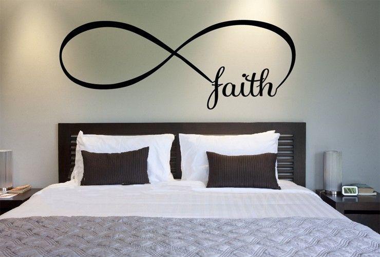 Faith Wall Decor faith symbol wall sticker sign decorative bedroom decor modern