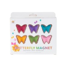 Colorful butterfly stereo fridge magnet posts magnetic sticker 6pcs/set 3.7*2.5cm free shipping