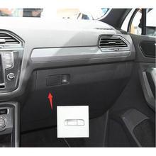 Автомобиль из нержавеющей стали бардачок нагрудные вышивки стикер Накладка для LHD VW Tiguan 2017