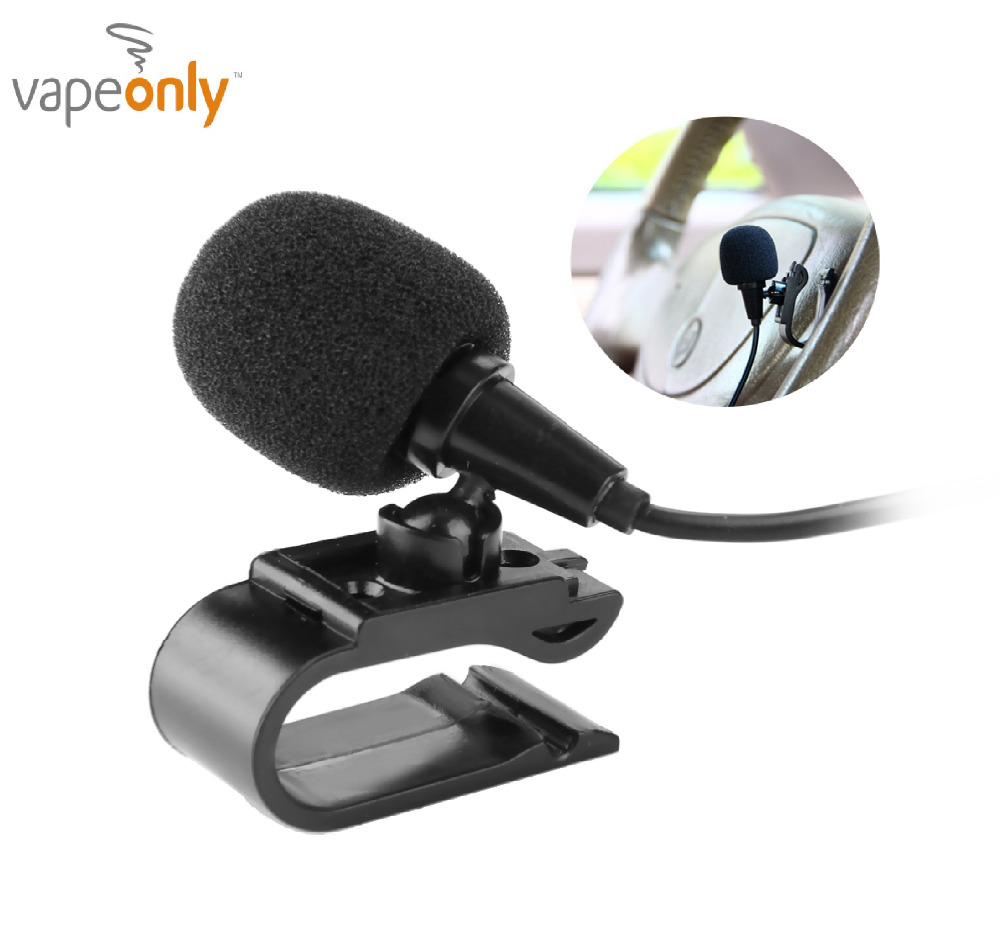 Vapeonly 3.5mm External Microphone Mini Car Audio Wired Microphone W/ U Shaped Fixing Clip For Auto DVD Radio Mic Player 3M Long