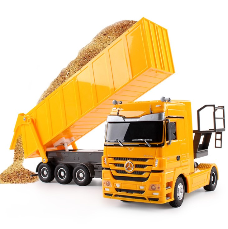 RC Truck 1:32 Dumper 10 Wheels Tilting Cart Radio Control Tip Lorry Auto Lift Engineering Container car Vehicle Toys gift