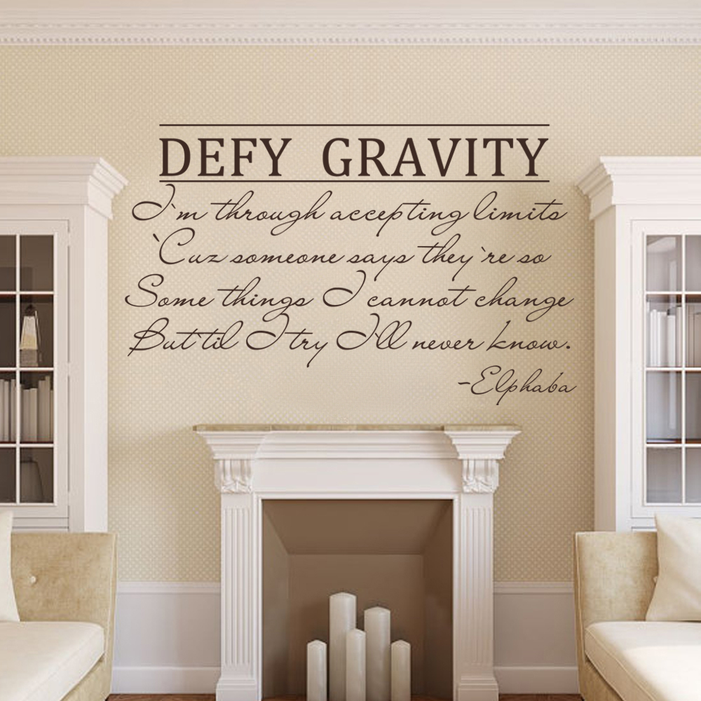 Wicked the musical defy gravity elphaba vinyl wall art quotes sticker 53cm x 89cm