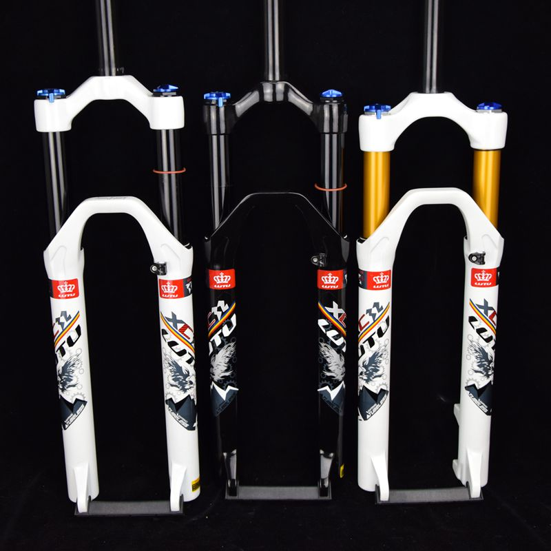 original LTU brand super light hollow tube magnesium alloy 26 100 travel air suspension mtb bicycle fork  shock magnesium aluminum alloy bicycle fork mountain air bike front shock 26 27 5