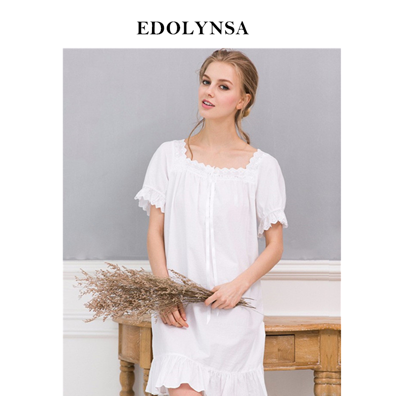 fc354d6f49 Detail Feedback Questions about New Arrivals Elegant Nightgowns Sleepshirts  Indoor Clothing Comfortable Sleep Shirts Sexy Home Dress Lace Nightgown  Female ...