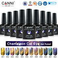#51024  CANNI 12 Metal Chameleon Colors Change Color Cat Eyes Gel Polish, Magnetic Cat Gel Polish*1pieces