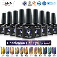 #51024 CANNI 12 Metal Chameleon Colors Change Color Cat Eyes Gel Polish, Magnetic Cat Gel Polish*1pieces