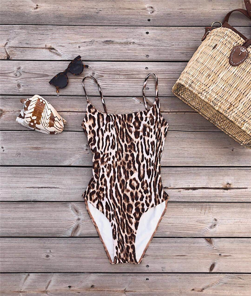 Hot Swimwear Women 2018 One Piece suits Sexy Leopard Print Bathing SwimSuit Push Up Swim Maillot De Bain femme sexy one piece swim suits swimwear women womens suit wear large size swimsuits push up skirt korean plavky damy maillot de bain