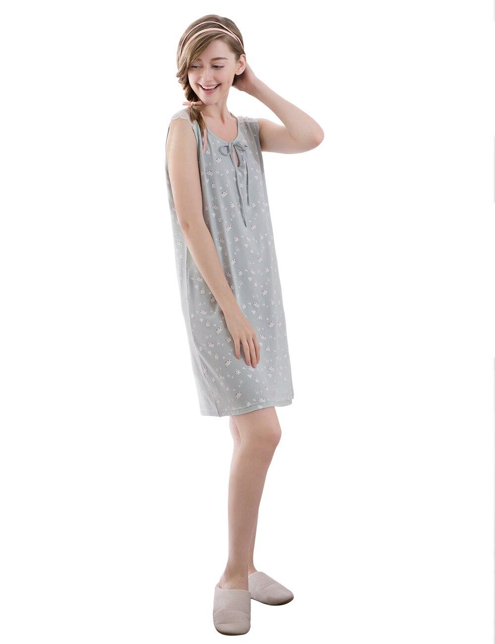 2017 New Summer Sleeveless Nightgowns Sleepshirts Women\'s Nightgown ...