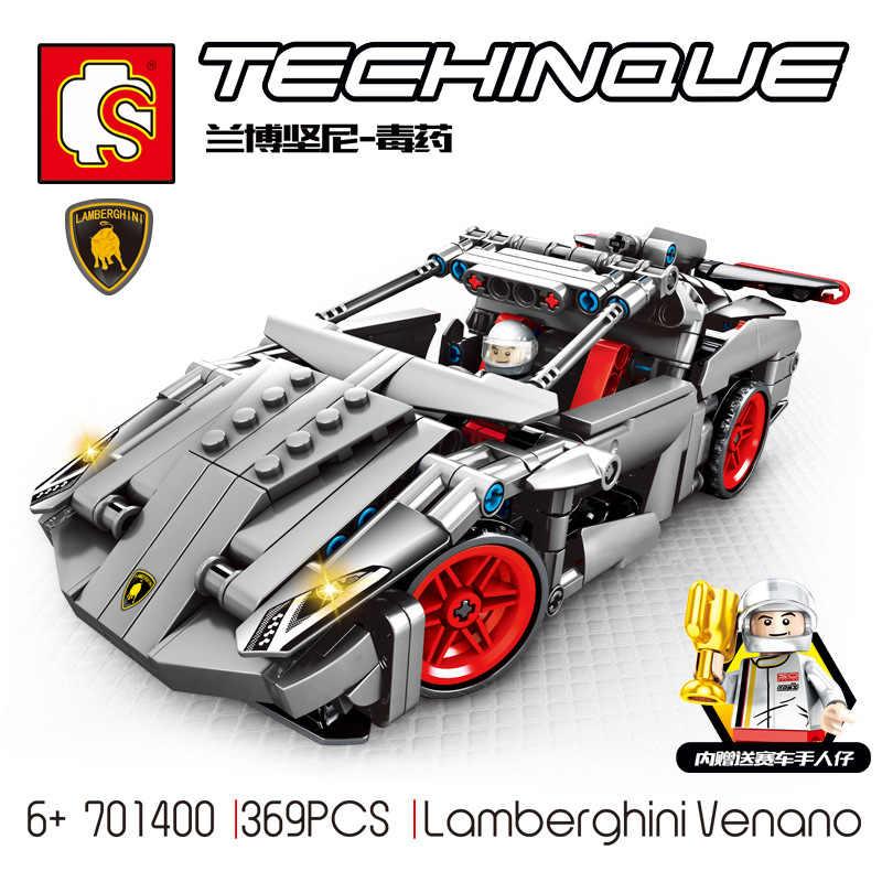 RC Technic Super Racers Series Speed Champions compatible pull  car Blocks Racing Building models children Road block toys