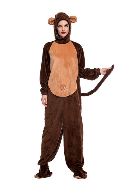 Fancy Adult Monkey Costume For Woman Cute Warm Cosplay Polyester Animal Clothe Jumpsit Halloween Cosplay Costuems  sc 1 st  AliExpress.com & Fancy Adult Monkey Costume For Woman Cute Warm Cosplay Polyester ...