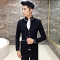 Китайский Воротник Костюм 2017 Новый Черный Пиджак Мужчины Костюм Homme Luxe Blazer Стили Мужчины Серые Мужские Пиджак Hombre Slim Fit
