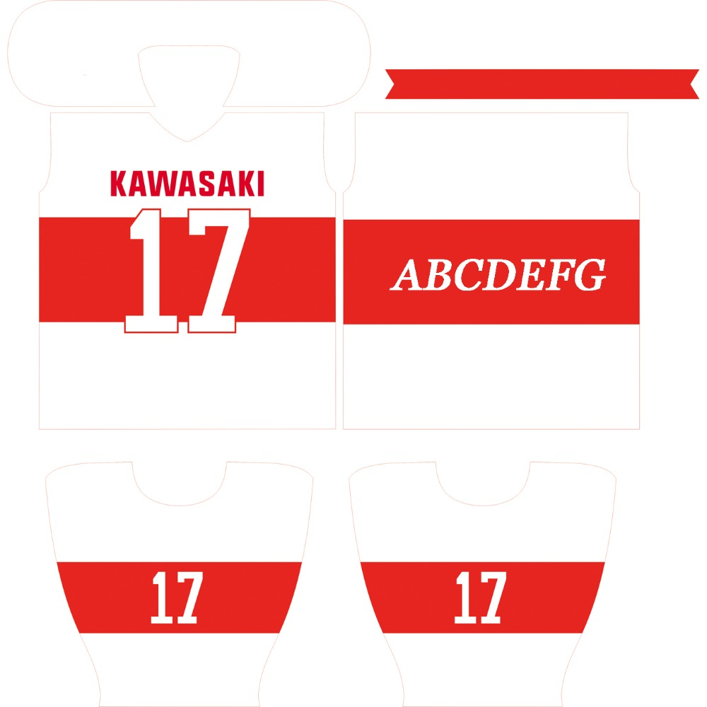 Kawasaki ապրանքանիշ Unisex Ice Hockey Jersey - Սպորտային հագուստ և աքսեսուարներ - Լուսանկար 6