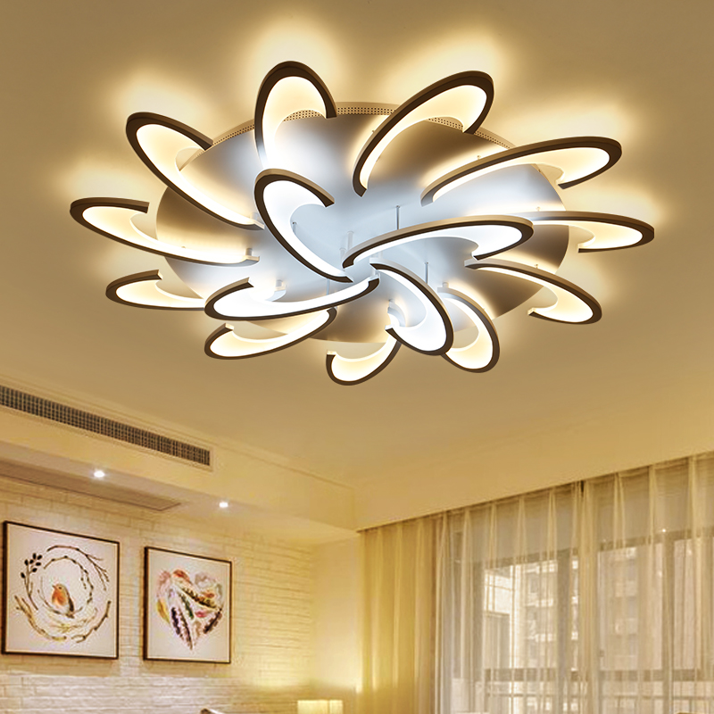 Modern Led Ceiling Lights For Living Room Bedroom White Color Acrylic Home Dec Surface Mounted Ceiling Lamp Fixtures декор ceradim surface dec puzzle 2 25x45