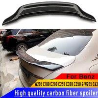 Для Mercedes Benz W205 C180 C200 C250 C300 C350 и W205 C63 AMG Седан 4 двери R Стиль углеродного волокна заднего крыла