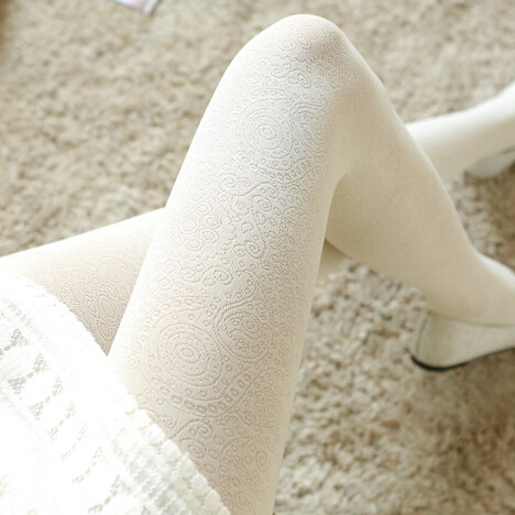 Princess sweet lolita pantyhose Korean Japanese spring autumn jacquard lace restoring ancient ways pantyhose LKW133