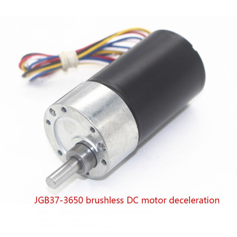JGB37 3650 brushless DC motor, high torque, long life, low noise, signal feedback CW/CCW geared motor