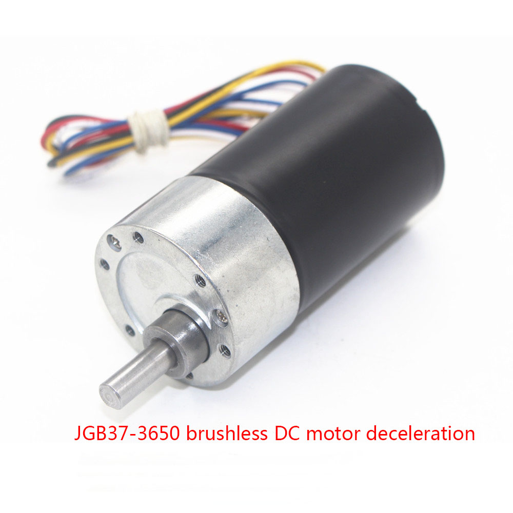 JGB37-3650 brushless DC motor, high torque, long life, low noise, signal feedback CW/CCW geared motor цена