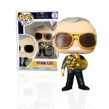 FUNKO POP Marvel Мстители: Endgame Стэн Ли и QUAKE виниловые фигурки Коллекция Модель игрушки для детей рождественские подарки