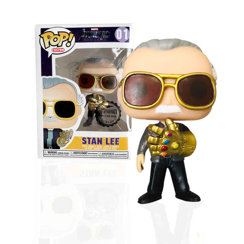 FUNKO POP Marvel Avengers: Endgame Stan Lee e QUAKE Vinyl Action Figure Collection Modello giocattoli per I Bambini Regali Di Natale