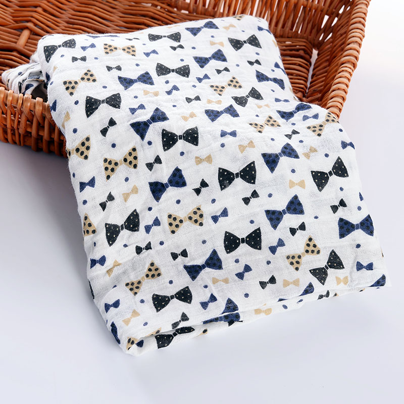 Muslin Baby Blankets Newborn Super Soft Swaddle Wrap Cotton Bamboo Baby Blankets Kids Single Layer Blanket Bath Towel 120*120CM