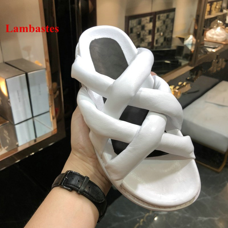 2018 Summer Soft Shoes Women Black Open Toe Crossover Designer Cuts Out Women Slippers Platform Outdoor Rome Cozy Slippers Mujer women summer slippers 2018 new arrivals shoes outdoor open toe sides comfortable flats floor silver black red plus size 45 3 39