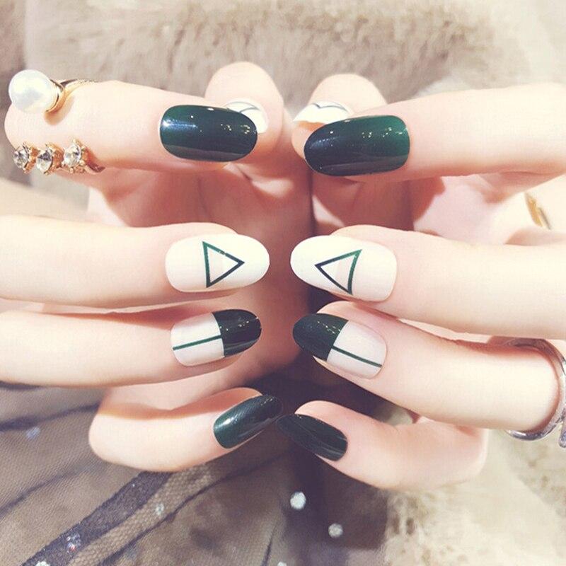 24pcs/set False Tips Nail Art Design Fake Nails Tools