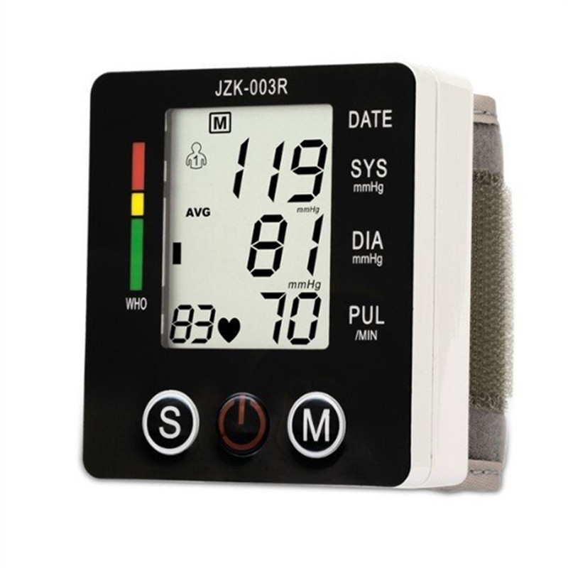 Portable Digital Blood Pressure Monitor Wrist Sphygmomanometer Blood Pressure Tonometer Automatic Helth Care Pressure Device (2)