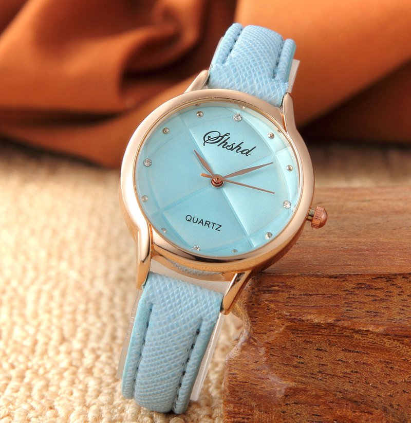 Hot Selling Fashion Set Diamond Trend Embossing Trend Student Girl Wrist Watch Jelly Color Gift Watch