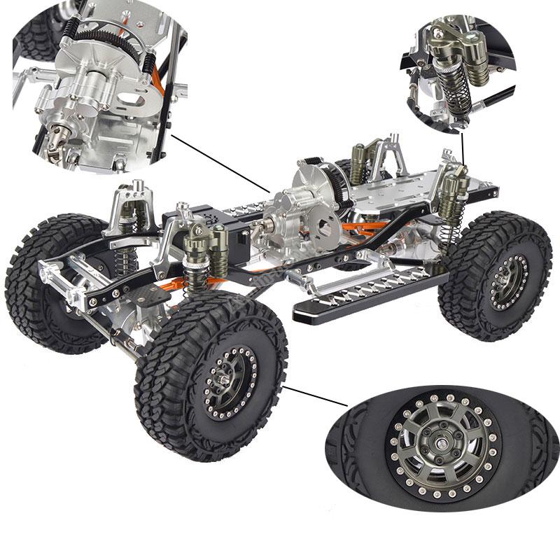 RC CNC Alloy SCX10 Chassis 1/10 4wd Rock Crawler Rahmen Kit Montiert ...