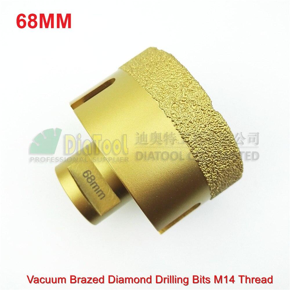 ФОТО 1pc 68mm Vacuum brazed diamond drilling core bits 15MM Coating width Diamond drill bits hole saw granite marble ceramic