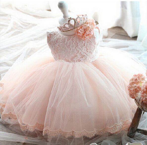 2018 new ball gowns for girls for wedding flowers girl costume princess party kids dresses for girls 1 years birthday dress kids
