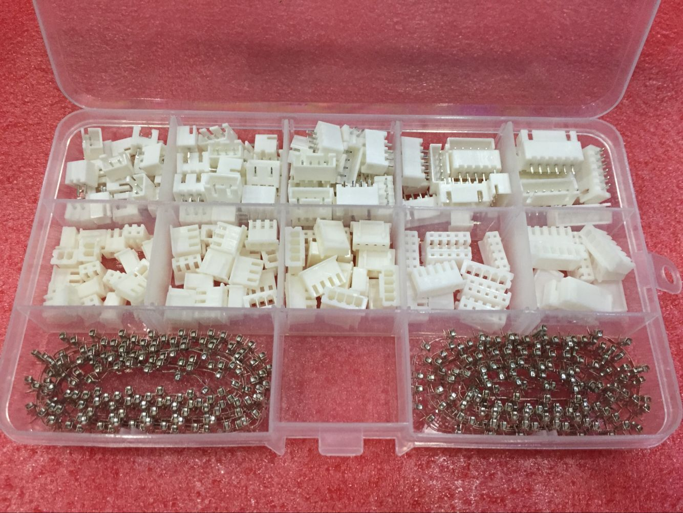 80 Sets Kit in box XH2.54 2p 3p 4p 5p 6 pin 2.54mm Pitch Terminal / Housing / Pin Header Connector Wire Connectors Adaptor XH2P