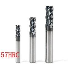 2 adet 4/2 flüt 10x75 MM HRC45 HRC50 HRC55 HRC60 10 MM CNC Tungsten Karbür End Mill R5 top end End Mill Alüminyum freze kesicisi