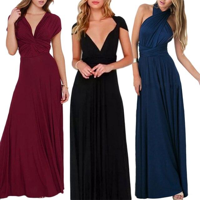 eef2cf6ff1 RAISEVERN Sexy Women Multiway Wrap Convertible Boho Maxi Club Dress Bandage  Long Dress Party Bridesmaid Infinity Robe vestido