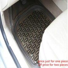 PVC Drivers seat Auxiliary driver universal 64*47cm car floor mats carpet black Transparent free shipping