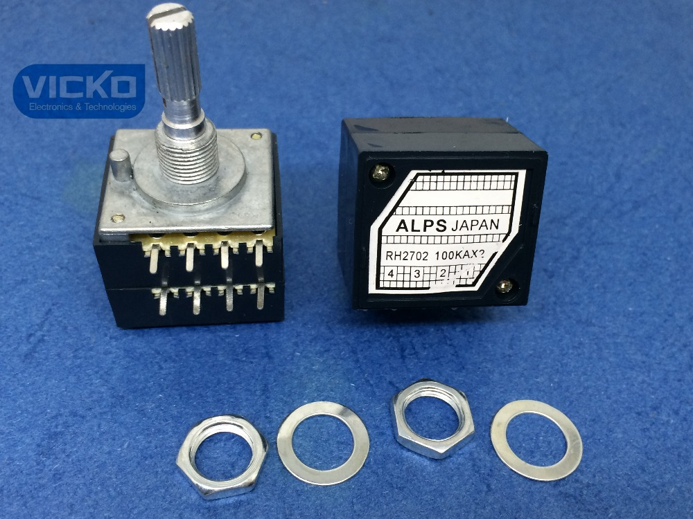 [vk]Japan Alps 27-type RH2702 100KAX2 100K 100KA A100K 8PIN with Loudness potentiometer (switch)[vk]Japan Alps 27-type RH2702 100KAX2 100K 100KA A100K 8PIN with Loudness potentiometer (switch)
