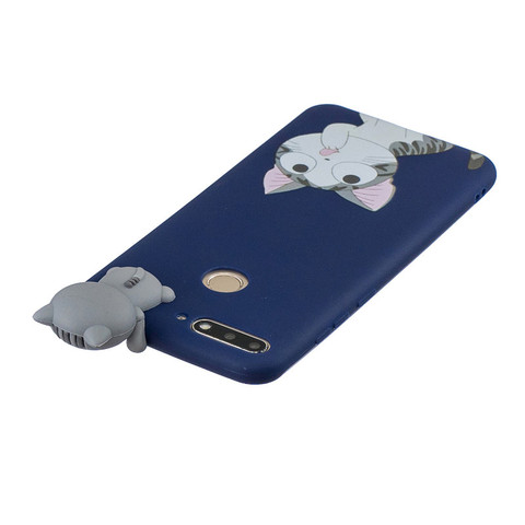 Silicone Case sFor Huawei Honor 7A Pro Cover For Fundas Huawei Y6 Prime 2018 3D Doll Toys Candy Soft TPU Phone Cases Women Etui Multan