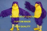 Фиолетовый Сокол костюм талисмана высокого качества взрослый размер Спорт Eagle Hawk птица тему аниме маскарадные костюмы карнавал необычные