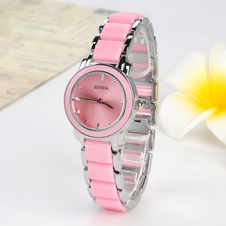 Acrylic Links Cute Pink Girls Fashion Lady Watch Hot New ...