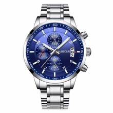 Best sell luxury brand watches men 2017 fashion casual luminous sport relogio masculino waterproof 30m stainless steel KASHIDUN